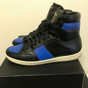 Saint Laurent Royal/Black high top sneakers